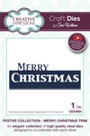 Sue Wilson Dies - Festive Collection - Merry Christmas Trim - CED3064