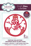 Sue Wilson Festive Collection - Snowman Snow Globe Scene