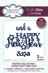 Sue Wilson Dies - Festive Collection - Starry Happy New Year - CED3087