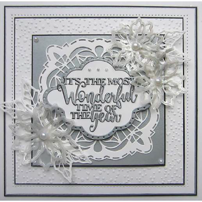 Sue Wilson Dies - Festive Mini Expressions Wonderful Time Of Year Craft Die - CEDME038