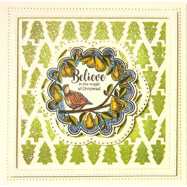Sue Wilson Stamps To Die For - Danielle's Partridge Pre Cut Stamp  - UMS892