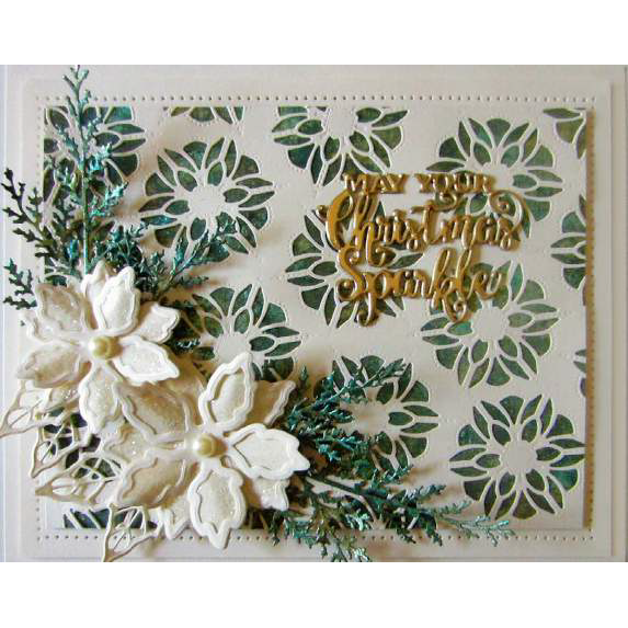Sue Wilson Dies - Festive Mini Expressions May Your Christmas Sparkle Craft Die - CEDME035
