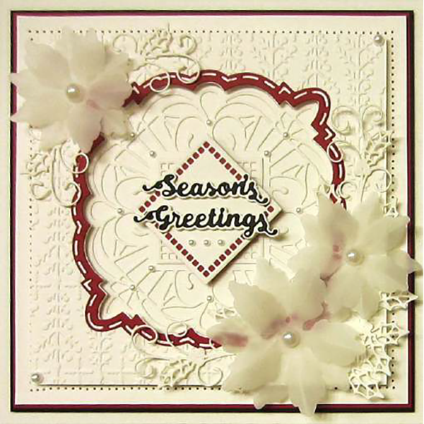 Sue Wilson Dies - Festive Collection -  Twin Holly Sprays Craft Die - CED3176