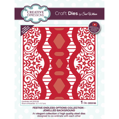 Sue Wilson Dies - Festive Collection - Endless Options Jewelled Background - CED3198
