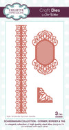 Craft Dies by Sue Wilson - Scandinavian Collection - Corner; Border & Tag (CED4202)