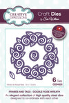 Craft Dies by Sue Wilson - Frames & Tags Collection - Doodle Rose Wreath (CED4320)