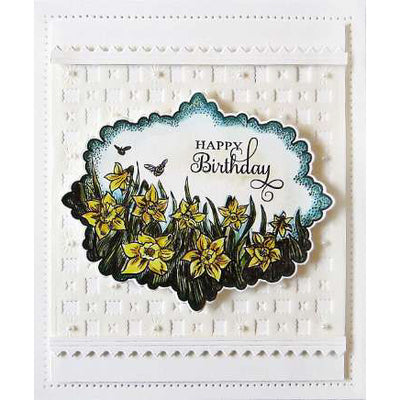 Sue Wilson Stamps To Die For - Rebecca's Daffodils Pre Cut Stamp  - UMS874