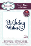 Craft Dies by Sue Wilson - Expressions Collection - Birthday Wishes (CED5426)