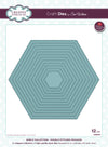 Sue Wilson Craft Dies - Noble Collection Double Stitched Hexagon - CED5518