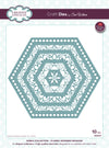 Sue Wilson Craft Dies - Noble Collection Classic Adorned Hexagon - CED5519
