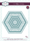 Sue Wilson Craft Dies - Noble Collection Lavish Accented Hexagons - CED5520