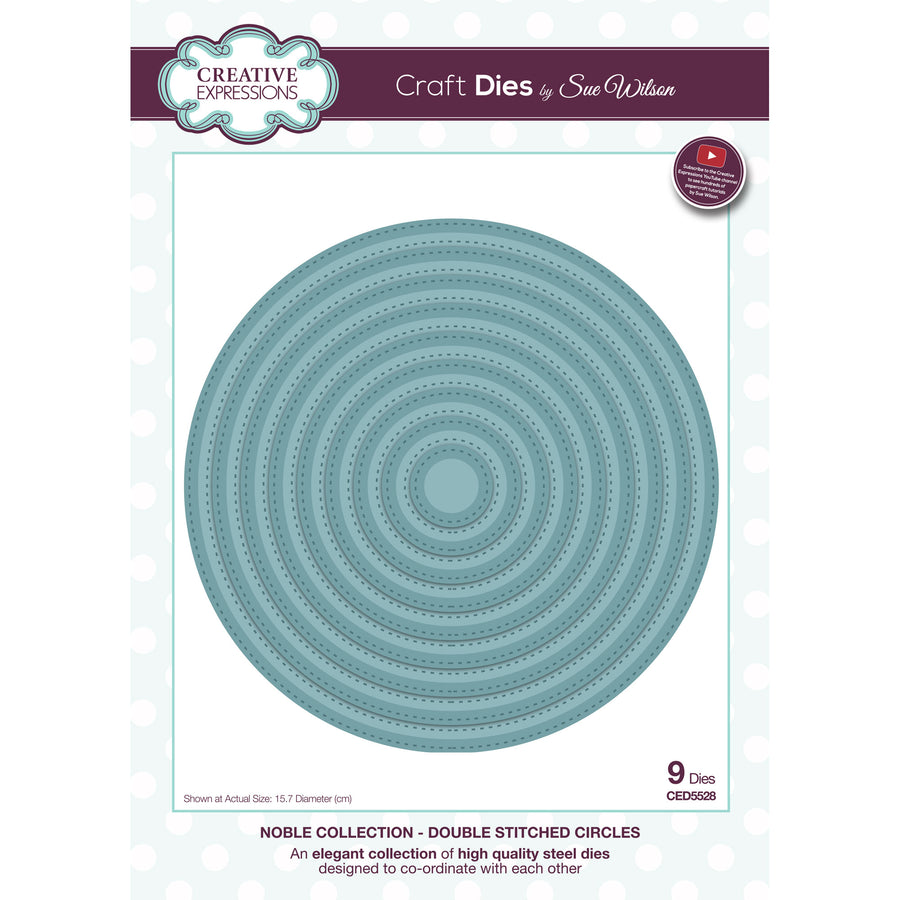 Sue Wilson Dies - Noble Collection - Double Stitched Circles - CED5528