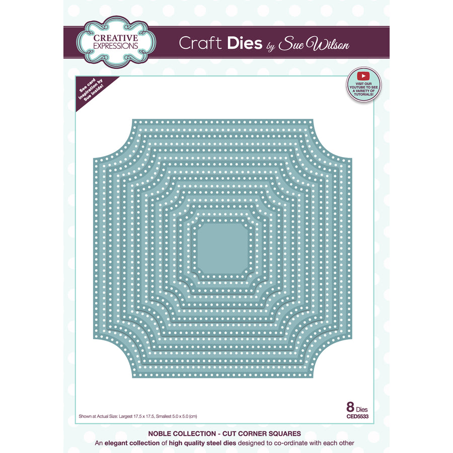 Sue Wilson Dies by Creative Expressions - Noble - Fancy Corner Squares - CED5533