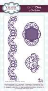 Craft Dies by Sue Wilson - Portuguese Collection - Corner; Border & Tag (CED6102)