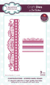 Craft Dies by Sue Wilson - Configurations Collection - Striped Swirl Edger (CED6408)