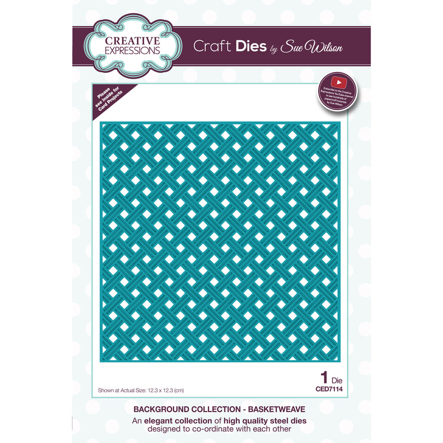Sue Wilson Dies - Background Collection - Basketweave  - CED7114