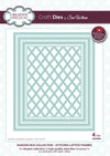 Craft Dies by Sue Wilson - Shadow Box Collection - Stitched Lattice Frame (CED9303)