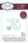 Craft Dies by Sue Wilson - Shadow Box Collection - Mr & Mrs (CED9304)