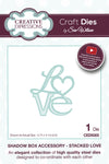 Craft Dies by Sue Wilson - Shadow Box Collection - Stacked Love (CED9305)