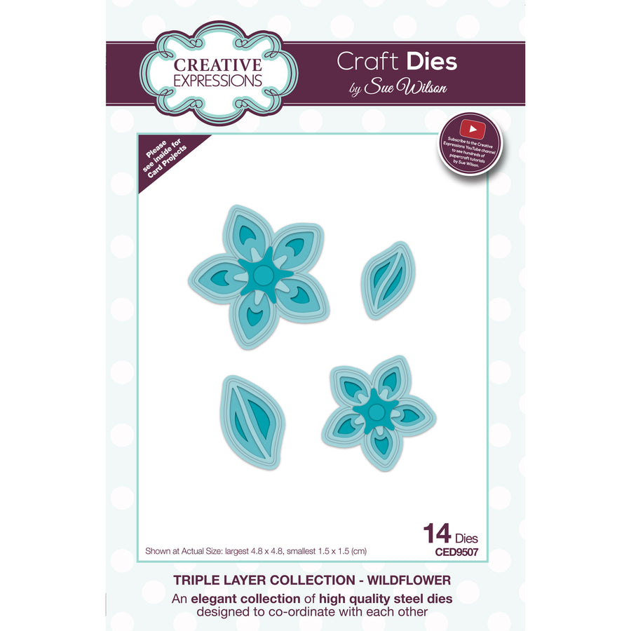 Sue Wilson Dies - Triple Layer Collection - Wildflower - CED9507