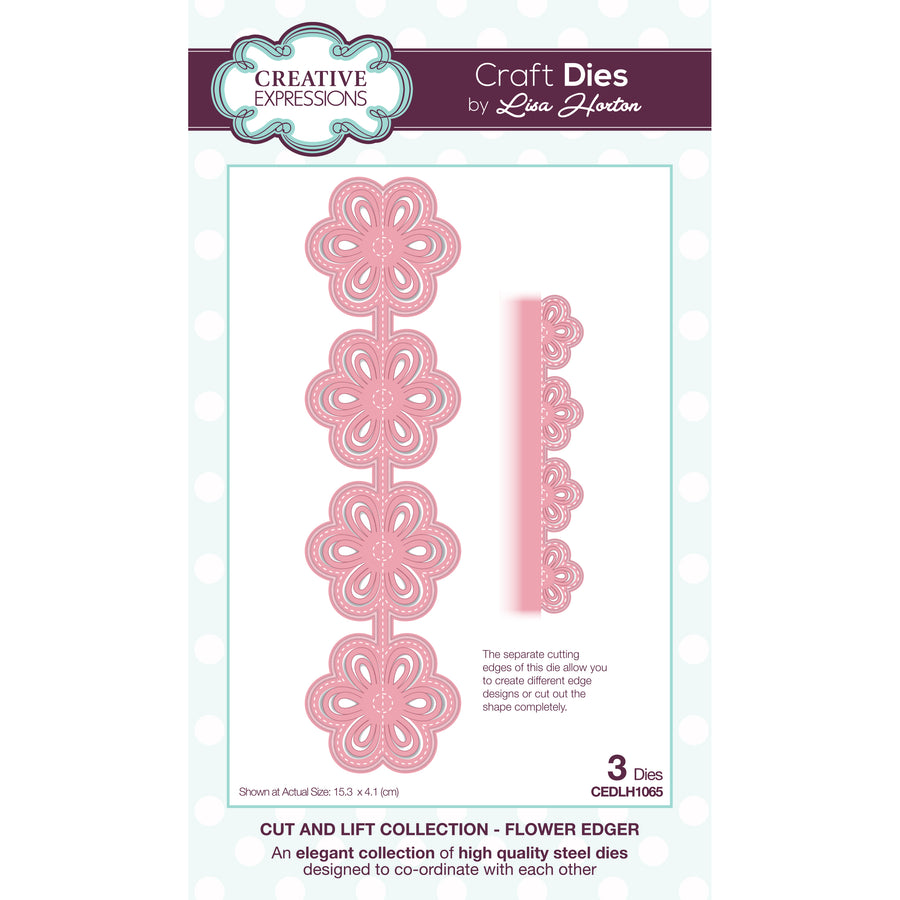Lisa Horton Dies - Cut and Lift -  Flower Edger Craft Die