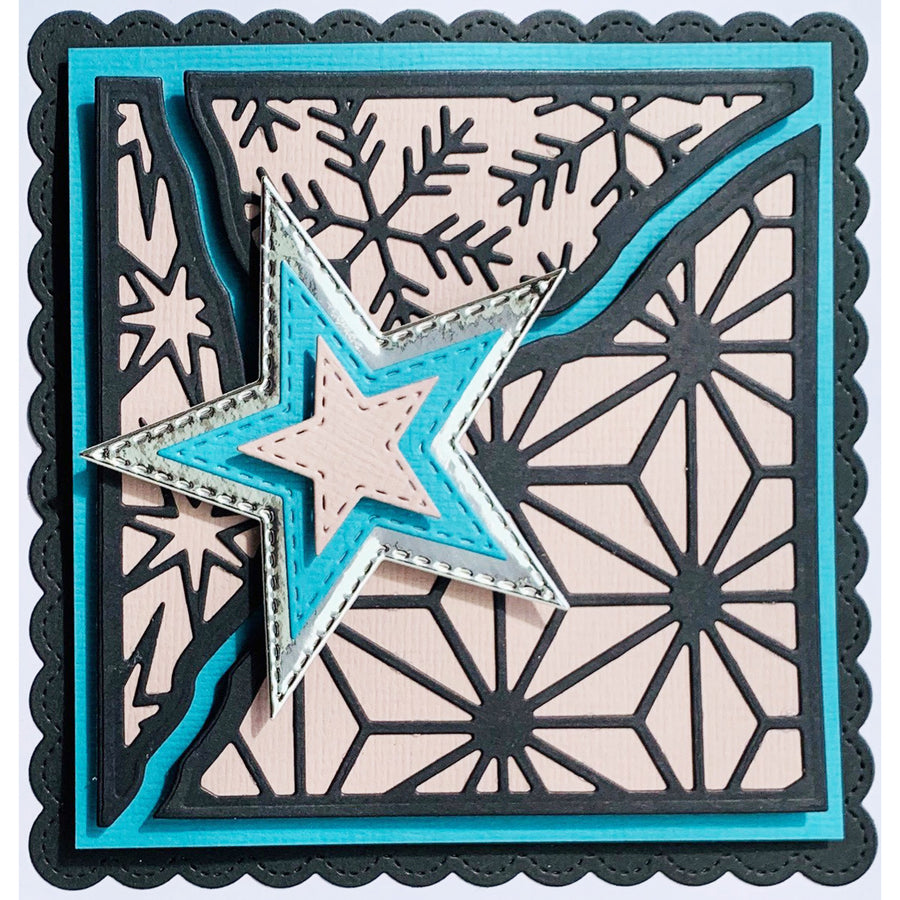 Lisa Horton Dies - Broken Tiles Collection - Wintry Skies Craft Die - CEDLH1081