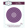 Lisa Horton Dies - Stitched Collection - Scalloped Circles Craft Die - CEDLH1076