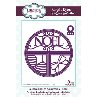 Lisa Horton Dies - Split Circles - Noel Craft Die - CEDLH1079