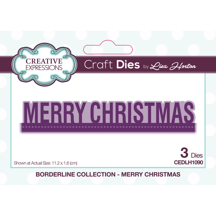 Lisa Horton Dies - Borderline - Merry Christmas Craft Die - CEDLH1090