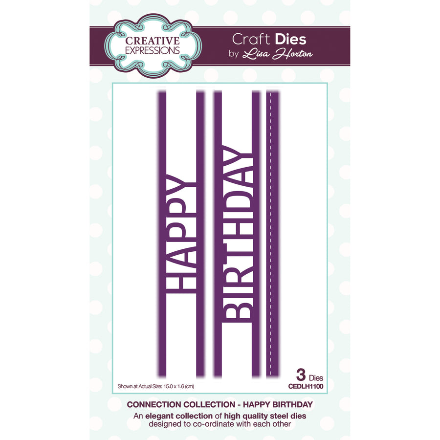 Lisa Horton - Connection Collection Happy Birthday Craft Die - CEDLH1100