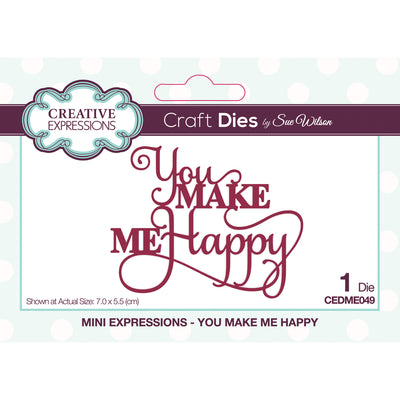 Sue Wilson Dies - Mini Expressions Collection - You Make Me Happy  - CEDME049