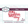 Sue Wilson Dies - Mini Expressions - You Brighten My Day - CEDME070