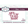 Sue Wilson Dies by Creative Expressions - Mini Expressions - Stacked Get Well Soon - CEDME075