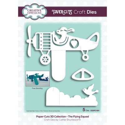 Creative Expressions Paper Cuts 3D Collection The Flying Squad Craft Die - CEDPC1061