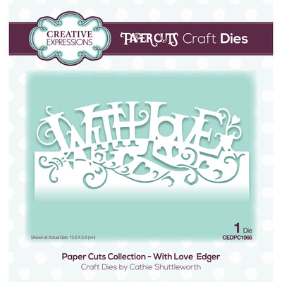 Paper Cuts Dies - With Love Edger - CEDPC1066