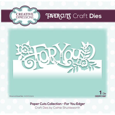 Paper Cuts Dies - For You Edger - CEDPC1067