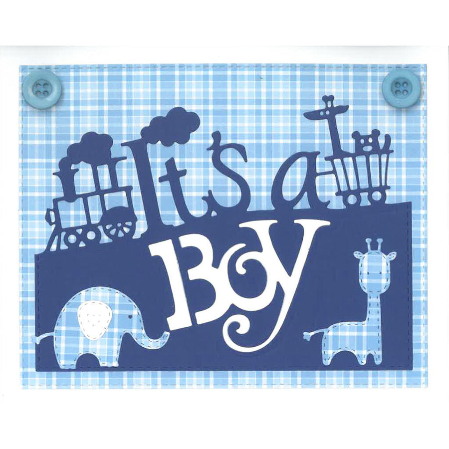 Paper Cuts Dies - It's a Boy Edger - CEDPC1071
