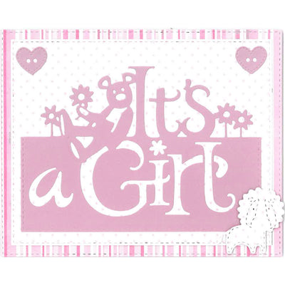 Paper Cuts Dies - It's a Girl Edger - CEDPC1072