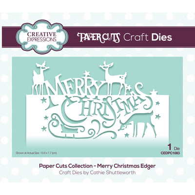 Paper Cuts Festive Edger Die - Merry Christmas - CEDPC1083