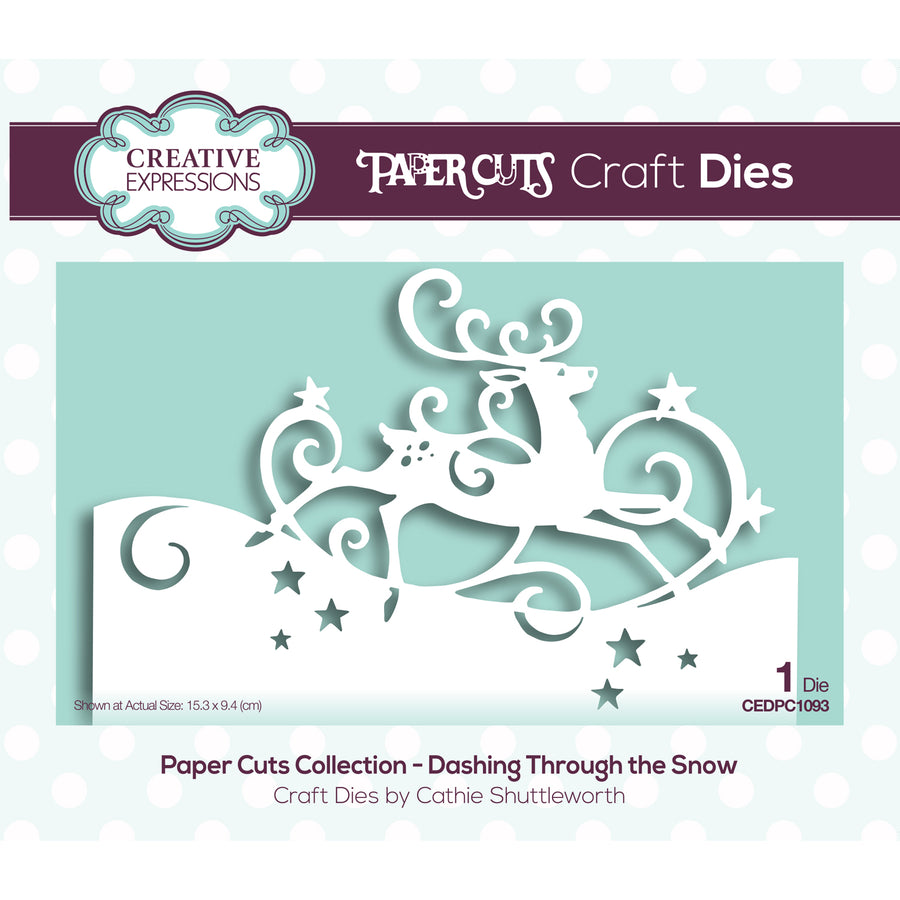 Paper Cuts Festive Edger Die - Dashing Through the Snow - CEDPC1093