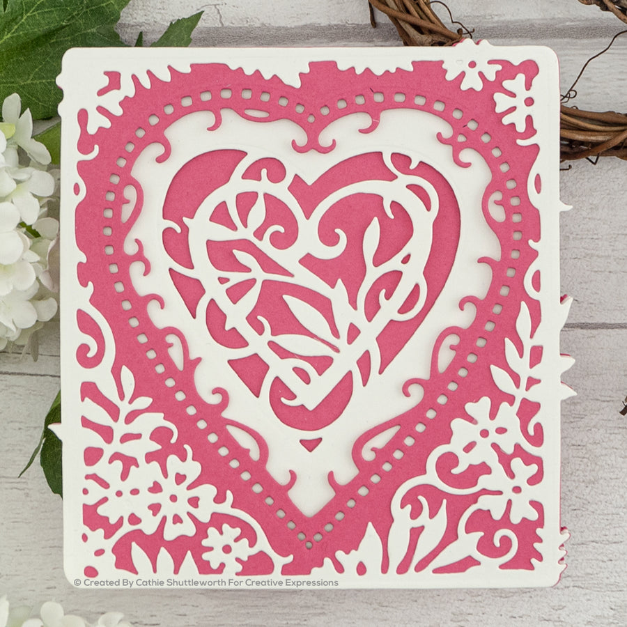 Paper Cuts Layering Dies - Entwined Heart - CEDPC1103
