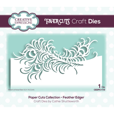 Paper Cuts Edger Dies - Feather Edger - CEDPC1118