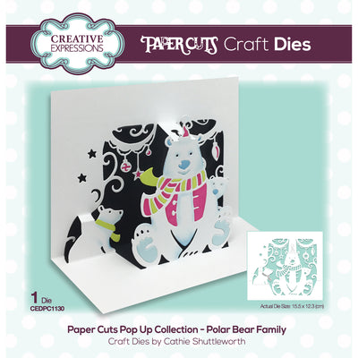 Paper Cuts Festive Pop Up Die - Beary Christmas - CEDPC1130