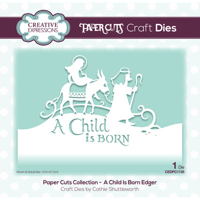 Paper Cuts Festive Edger Die - A Child Is Born Craft Die - CEDPC1135