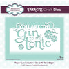 Paper Cuts Edger Die - Gin To My Tonic - CEDPC1144