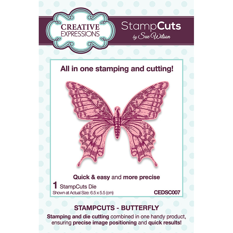 Sue Wilson Dies by Creative Expressions - StampCuts - Butterfly - CEDSC007