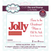 Sue Wilson Stamp & Die Set - Festive Collection - Jolly - CEDSD001