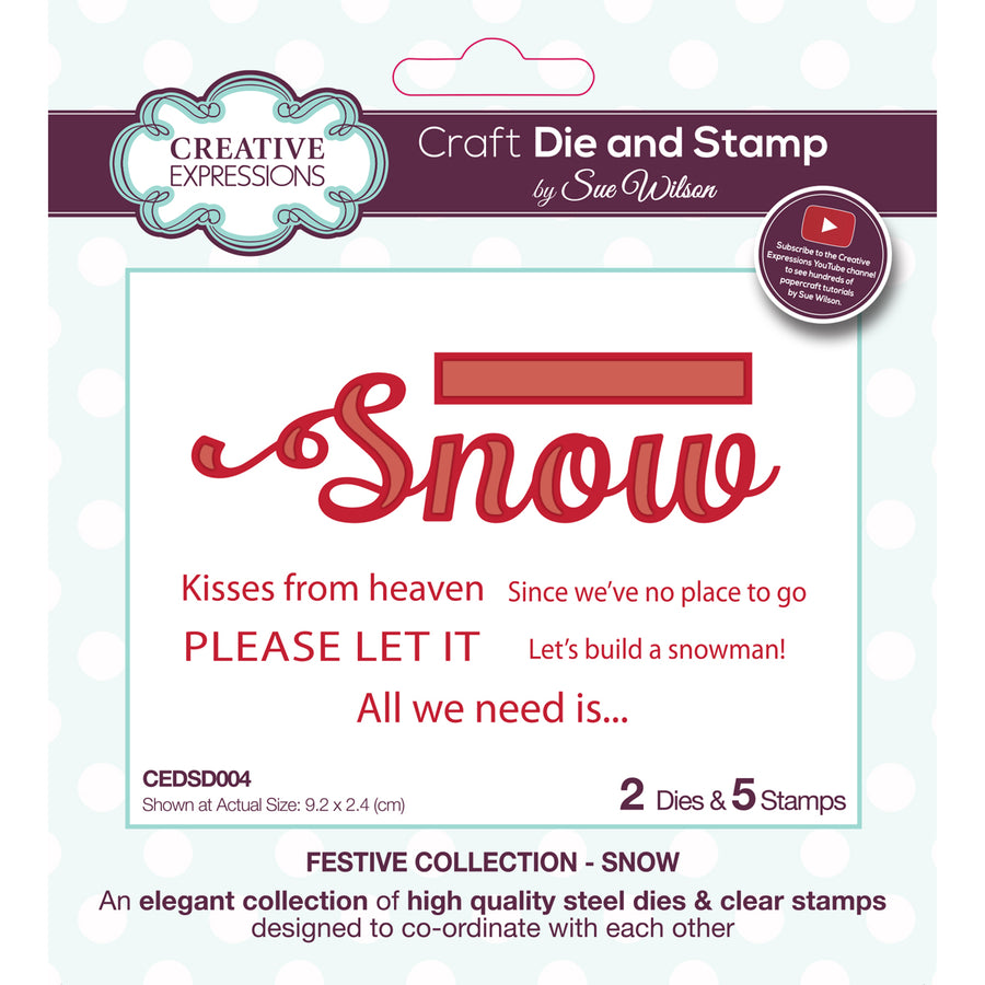 Sue Wilson Stamp & Die Set - Festive Collection - Snow  - CEDSD004