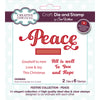 Sue Wilson Stamp & Die Set - Festive Collection - Peace - CEDSD005