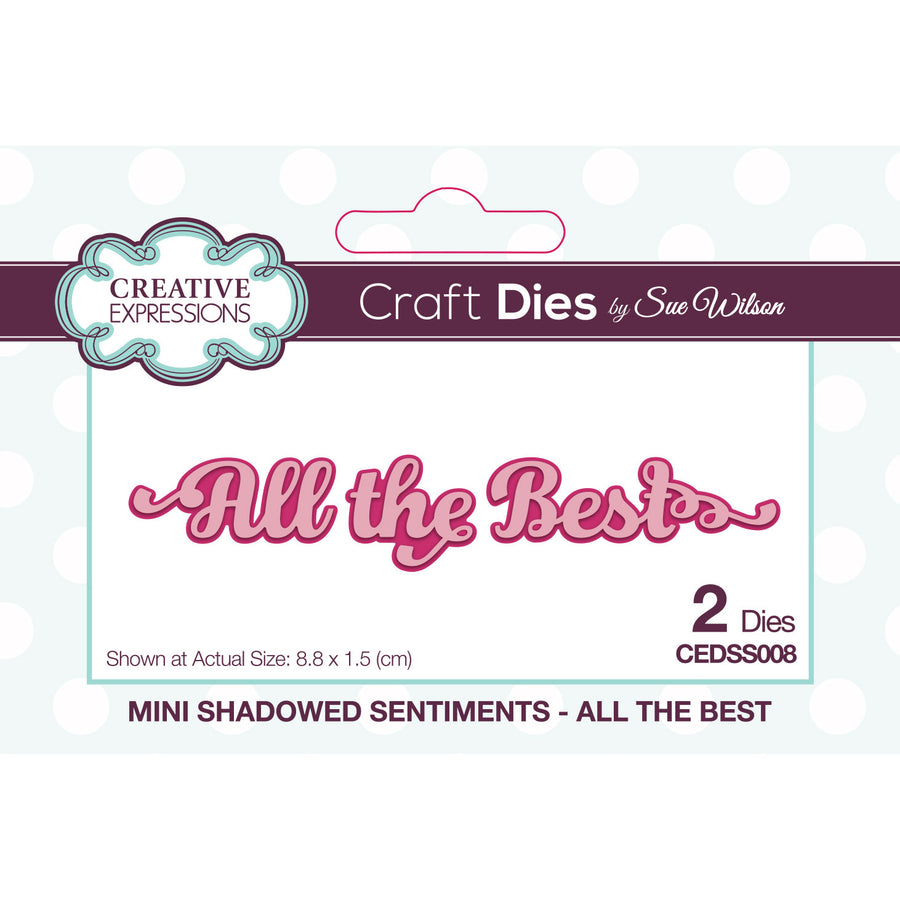 Sue Wilson Dies - Mini Shadowed Sentiments - All the Best - CEDSS008